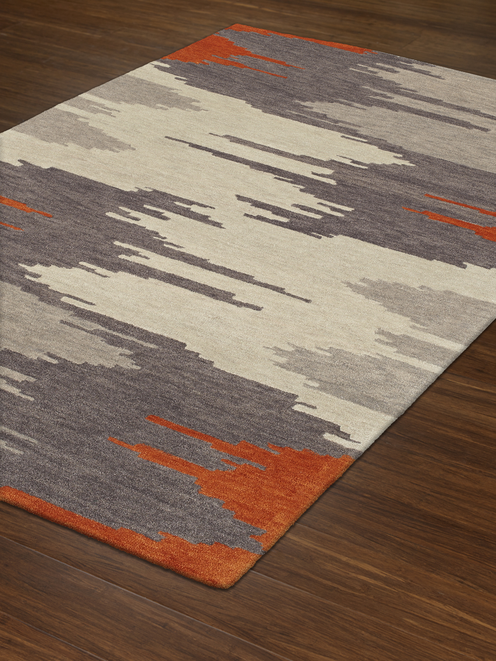 Impulse Orange Art Silk Amp Hand Tufted Wool Pile Rug Soft